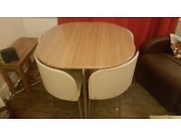 Save space TABLE WITH 4 CHAIR
