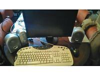 Samsung computer monitor, logitech mouse and keyboard plus phillips speakers £15
