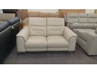 Furniture Village Sanza 2 Seater Leather Electric Recliner Sofa Adjustable Headrests Can Deliver