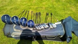 Full set of ladies / junior right handed golf clubs.
