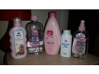 Some baby toiletries