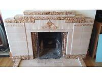 Retro Tiled Fireplace surround