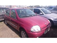 2000 RENAULT CLIO, 1.1 PETROL, BREAKING FOR PARTS ONLY, POSTAGE AVAILABLE NATIONWIDE