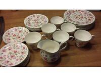 Duchess Jacobean Bone China Tea Set Vintage