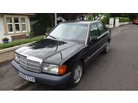 Mercedes-Benz 190 2.0 E 4dr, OUTSTANDING EXAMPLE! 1990 (G reg), Saloon car in black