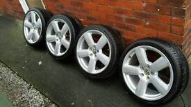 "VW 18"" Alloy wheels and tyres."