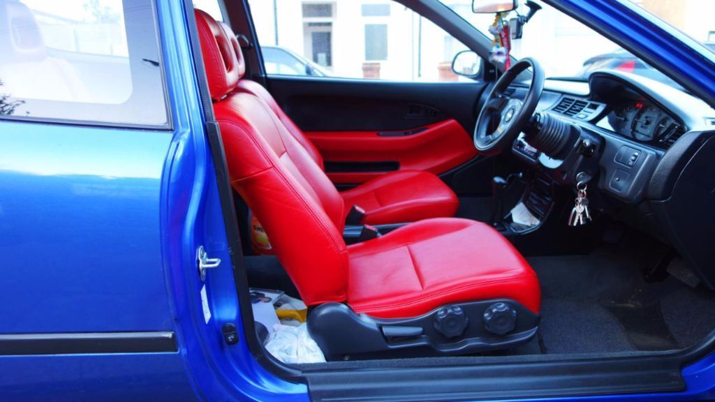 honda civic eg hatchback seats red leather interior in harrow