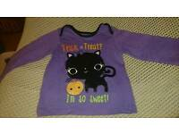 Marks and Spencers Halloween top for baby 12 - 18 months