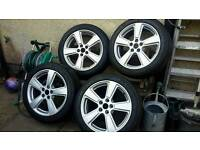 Jaguar x type aloy wheels &tyres