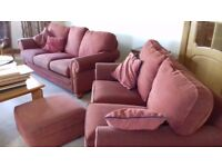 Free - 2 seater & 3 seater sofa & footstool