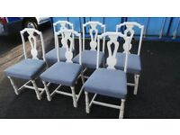 6 Shabby Chic Dining Chairs - Bedroom Chairs - 07989088223