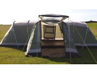 Outwell Nebraska XL tent, porch extension, footprint & carpet