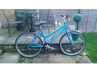 Ladies blue mountain bike