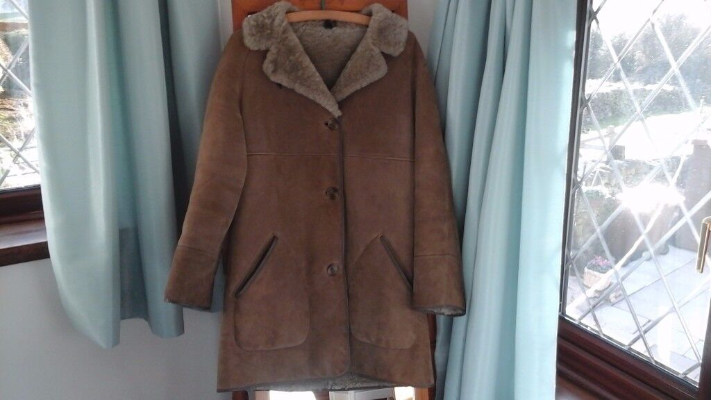 Vintage Sheepskin jacket from The Taube Collection of London size 12