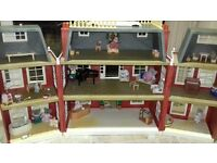 Slyvanians Dolls House and toys/furniture