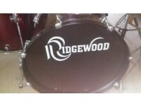 Ridgewood drum kit for sale, excellent condition