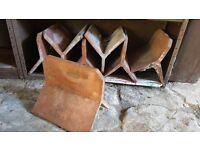 "7 x 12"" clay terracotta ridge tiles"