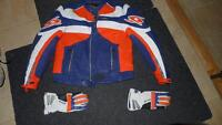 SPYKE leather jacket and matching gloves like new - REDUCED
