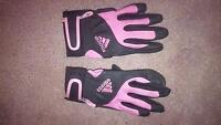 Youth Girls Pink Adidas Batting Gloves