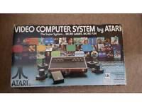 Boxed Atari woody 2600 console
