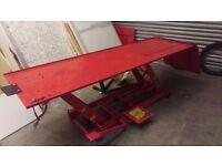 Clarke Hydraulic Motorcycle / Motorbike Workshop Ramp / Lift / Bench /Table