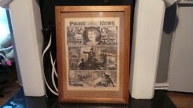 Jack the Ripper framed full size Replica Aged Newspaper Oct 1888