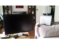 Dell Monitor and set of speakers.