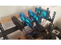 160+MHS Cryptocurrency Mining Rig - ETHereum,ETH Classic,Monero,Bitcoin Gold,ZCL