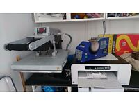 Professional TShirt and Mug Printing Equipment, A3 Sublimation Printer, Flat Swing Press, Mug Press