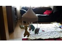 Jungle chums Cot mobile and Bedding