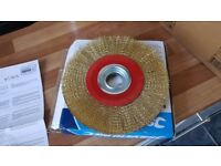 Wire Brush Wheel 8 inch For Bench Grinder NEW IN BOX UNUSED