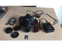 Canon EOS 70D (W) 20.2MP Digital SLR Camera - Black (Kit w/ EF-S IS STM 18-55mm lens.