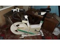 Tunturi Pro Ergoracer - set up as a road bike trainer