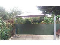 freestanding garden parasol £50