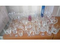 ODD GLASSES, FROM SMALL GLASSES TO TALL WINE GLASSES, BEER GLASSES