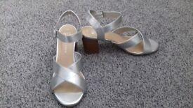 New look Silver block heels junior prom
