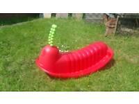 Rocking caterpillar rocker outdoor garden toy