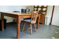 Two Solid Pine Kitchen Tables