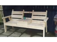 6ft garden /patio lovers bench