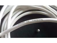 6 metre length of Chord Carnival 2 core speaker cable