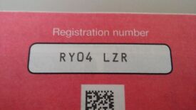 Personalized number plate RY04 LZR cherished number