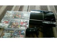 Sorry play station 3 with 8 games £ 70