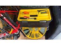 Large Stanley wheeled tool box