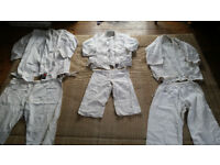 Sets of used Martial arts outfits