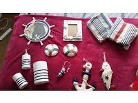 Nautical bathroom accessories*excellent condition*