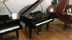 Samick SG-140C Black polyester baby grand piano by Sherwood Phoenix Pianos