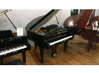 Samick SG-140C Black polyester baby grand piano by Sherwood Phoenix Pianos
