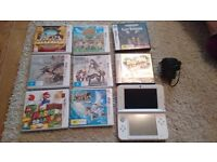 3DS XL White + 9 games