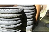 motor bike tyres free for collection