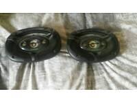 """Pair kenwood 6"""" x 9"""" speakers"""